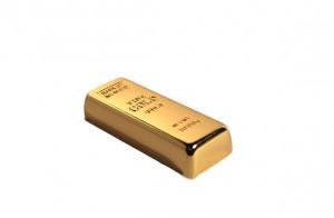 przenośna pamięć usb w kształcie sztabki złota