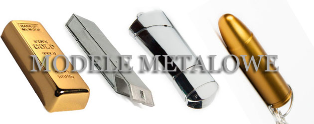 usb logo pendrive metalowe